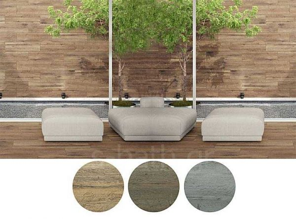 KARAG SULAWESI gris - Πλακάκι ξύλο πορσελανάτο