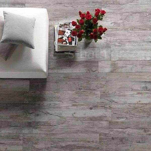 KARAG SULAWESI gris - Πλακάκι δαπέδου τύπου ξύλο