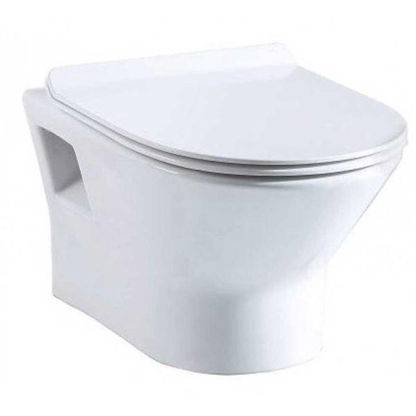 KERAFINA GENIUS WALL HUNG - Λεκάνη μπάνιου κρεμαστή με σύστημα στροβιλισμού