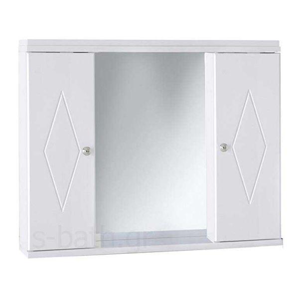 Καθρέπτης με ντουλάπια μπάνιου KLODIA λευκό