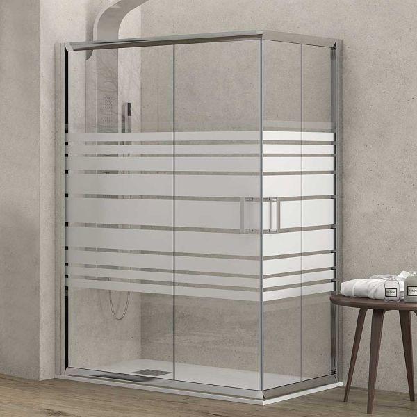 Καμπίνα μπάνιου LEXITEL γωνιακή σεριγραφία