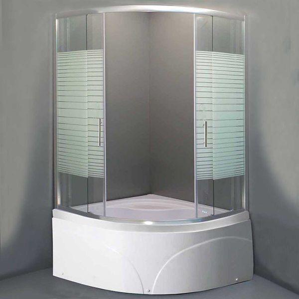 Καμπίνα μπάνιου METZO-90 σεριγραφία σετ με ντουζιέρα