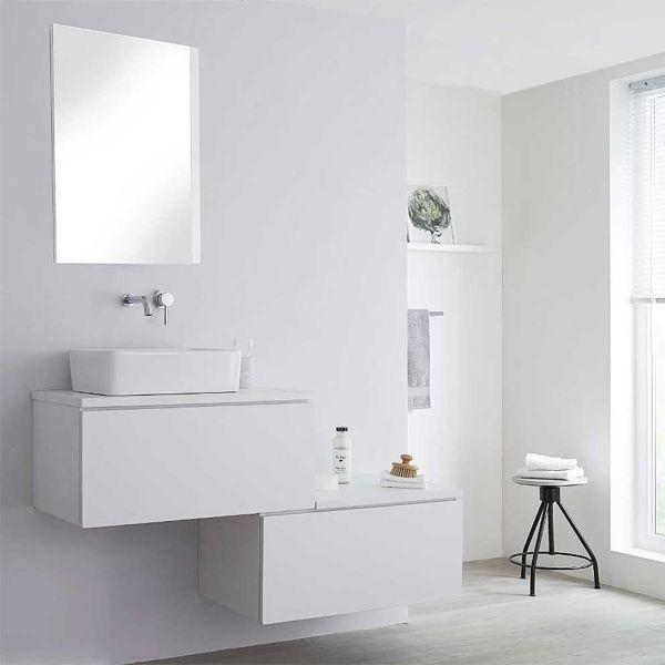 Έπιπλο μπάνιου NATURE-140 λευκό πλήρες