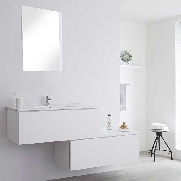 Έπιπλο μπάνιου NATURE-160 λευκό πλήρες