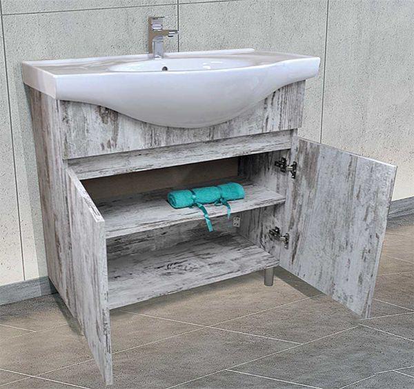 Έπιπλο μπάνιου NORDIK-60 δαπέδου με νιπτήρα