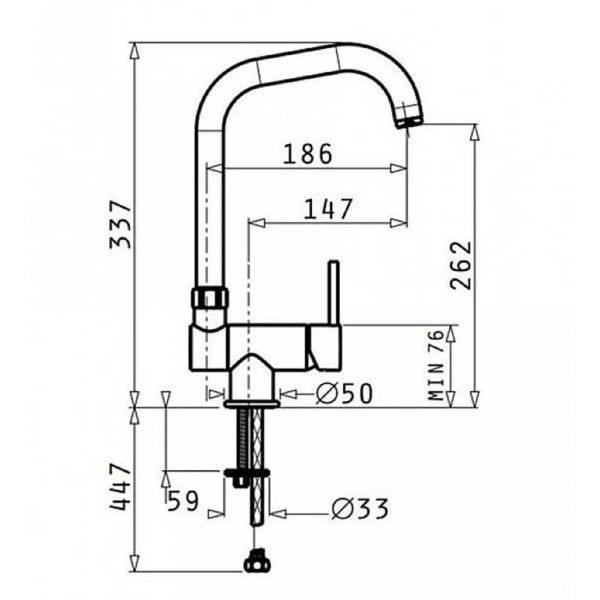 PYRAMIS CONTRALTO CLASSIC 095111001 - Μπαταρία κουζίνας - διαστάσεις