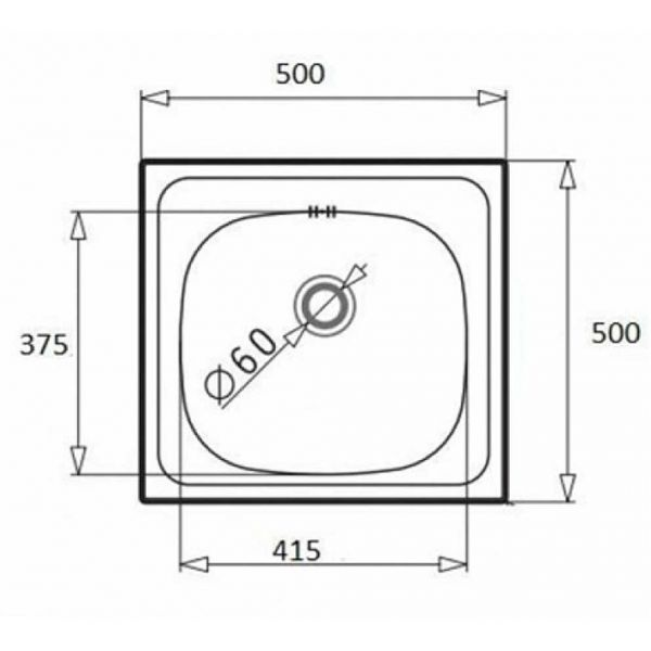PYRAMIS MAIDSINKS INSET 50x50 1B - Νεροχύτης κουζίνας - διαστάσεις