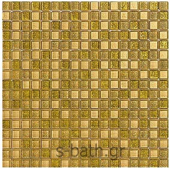 GOLDEN BLUE - ENJOY MIX mosaico χρυσό - Ψηφίδα μπάνιου-κουζίνας