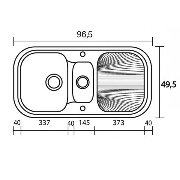 SANITEC CLASSIC 301 - Νεροχύτης κουζίνας συνθετικός
