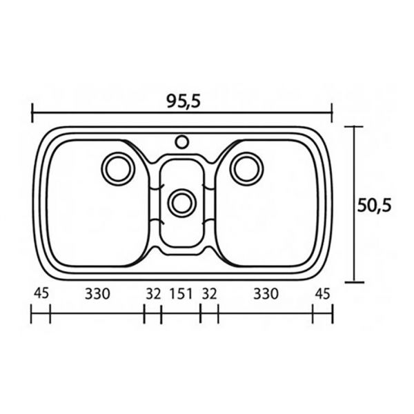 SANITEC CLASSIC 303 - Νεροχύτης κουζίνας συνθετικός