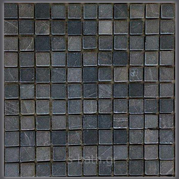 STOONE PARQUITE BLACK - Ψηφίδα μπάνιου-κουζίνας πέτρα