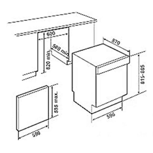 Teka DW 605 S 60cm INOX - Πλυντήριο πιάτων - διαστάσεις