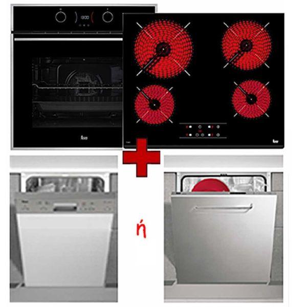 Εντοιχισμένο Σετ Κουζίνας - φούρνος, εστία, πλυντήριο TEKA HSB 645 & TT 6415 & DW 455 ή DW 605