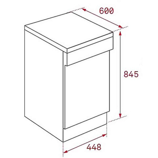 TEKA LP8 410 45cm INOX - Πλυντήριο πιάτων - διαστάσεις