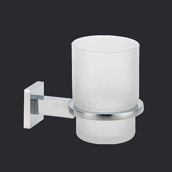 Αξεσουάρ μπάνιου CUBE - Ποτηροθήκη μπάνιου τοίχου