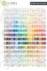 Έπιπλο μπάνιου ETERNA-2-60 - χρωματολόγιο λάκας